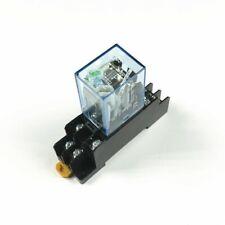 1 Leistungsrelais 10A LY2NJ DPDT 8 Pins Mit Sockel 12V 24V 220/230V DC Neu