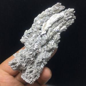 57g NATIVE tibetan silver CRYSTALS QUARTZ PERU ARGENTITE MINERAL SPECIMEN 49