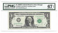 1963B $1 CHICAGO FRN, PMG SUPERB GEM UNCIRCULATED 67 EPQ BANKNOTE, BARR SIGN., 1