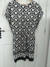 Be Beau Black And White Hearts Tunic Dress Size 8