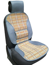 Sumex Universal Brown Natural Bamboo Back Lumbar Support Home & Car Seat Cover