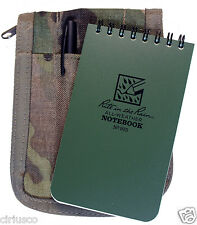 """Multicam """"Rite in the Rain"""" 3""""x5"""" Tactical Green Notebook Kit with Cover & Pen"""