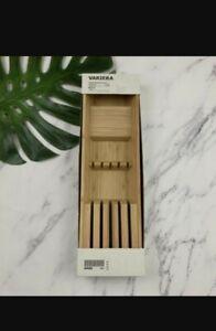 """Ikea Variera Bamboo Knife Tray 20"""" x 6"""" (15x50 cm) 402.635.65 Knife Block 21386"""