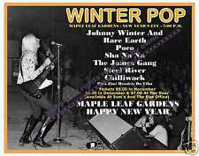 Johnny Winter And Maple Leaf Gdns & Club Photo Two 8 x 10`s Rick Derringer