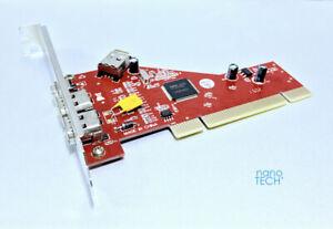 3 Port Firewire 400 1394a PCI Card Adapter For Apple Macintosh PowerMac G3 / G4