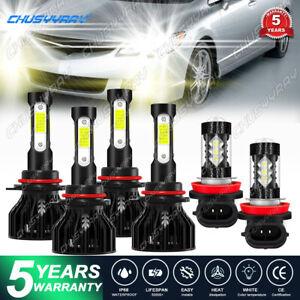 9005 9006 H11 LED Combo Headlight Fog Light Kit High Low Beam Bulb 6000k+3000k