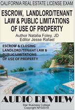 ESCROW, LANDLORD/TENANT LAW, California Real Estate Agent Exam,  Audio (CDs)