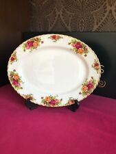 "Royal Albert Old Country Roses Oval Carving Serving Platter 13"" 9 Available"