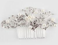 Wedding Bridal Pearl/ Flower Crystal Hair Comb Bridesmaid Jewelry