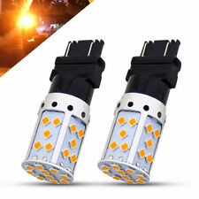 2X 3157 T25 LED 35SMD Bulb 2800LM Amber Car Brake Reverse Lamp Turn Signal Light