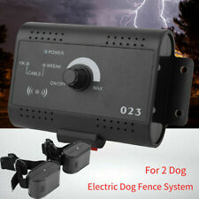 New listing Waterproof Rechargeable 2 Collar Dog In-Ground Training Electric Fence System Us