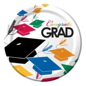 Graduation Toss 9 Inch Paper Plates 50 Pack Grad Tableware Party Decorations