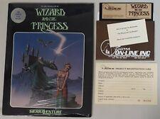 Wizard & Princess SierraVenture Sierra On-Line System Atari 400/800 w/shrinkwrap
