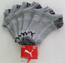 Puma Women's No Show Socks 6 Pack 9-11 Grey Black Athletic Sport Cool Cell New