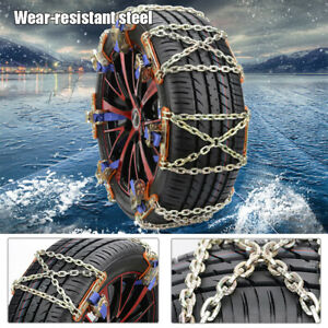 1PC Wheel Tire Snow Anti-skid Chains Steel Car SUV Emergency Winter Universal