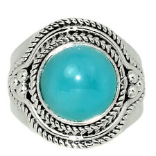 Paraiba Chalcedony 925 Sterling Silver Ring Jewelry s.6.5 AR131305 174A