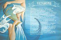 Carte Postale Signe du ZODIAC, VERSEAU- Illustré par Catherine SCHMID