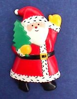 Hallmark MAGNET Christmas Vintage SANTA CLAUS with TREE Holiday Fridge