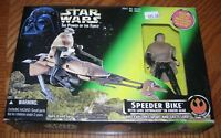 Star Wars Speeder Bike with Luke Skywalker Figure Endor Gear