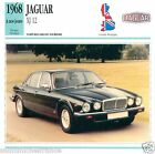 JAGUAR XJ 12 1968 à nos jours CAR VOITURE Great Britain CARTE CARD FICHE