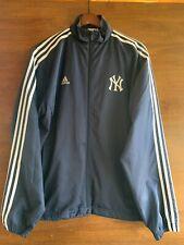 NEW YORK YANKEES Adidas Climalite zippered Jacket Windbreaker M Medium