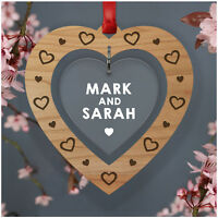 PERSONALISED Valentines Day Couples Gifts for Her Him Boyfriend Wife ANY Names