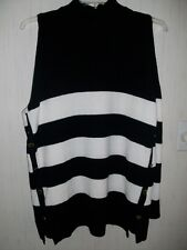 Sweater, Black & White Striped Long Sleeve, Cold- Shoulder.  NEW/WT.   XL