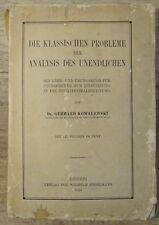 Die klassischen Probleme der Analysis des Unendlichen von Dr. Kowalewski (1910)