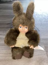 Anne Geddes Bean Collection Doll Baby Brown Rabbit Bunny Collectable 1997 Unimax