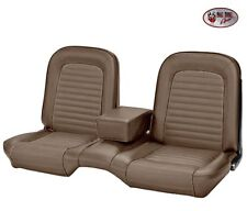 1964-1/2 -1965 Ford Mustang Coupe Palomino Front & Rear Bench Seat Upholstery