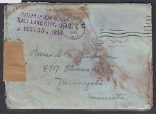 1936 Crash Cover – LA to Minn, near Salt Lake City, marking, original contents