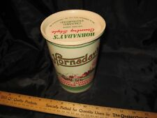 Vintage Hornaday's 32 oz. Cottage Cheese Waxed Container Indianapolis Cattle