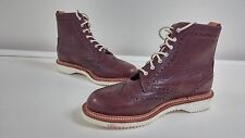 New Womens Dr Marten Bently Brogue Maroon Ankle Dress Boots Size L5 109W