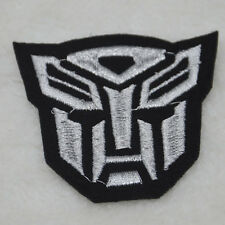 Transformers logo sewn iron on patch  Embroidered applique DIY Motif embroidery