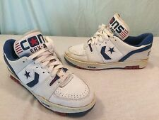 VINTAGE CONVERSE BASKETBALL SHOES MENS SIZE 10 CONS ERX 200 WHITE BLUE RED 80s