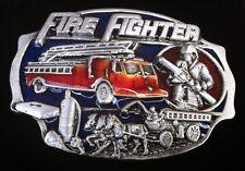 FIREFIGHTER FIREMAN CARS TRUCKS BELT BUCKLE BOUCLE DE CEINTURE POMPIER