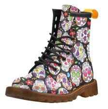 Canvas Combat Boots Lace Up Shoes for Women
