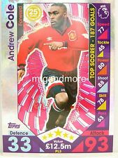 Match Attax 2016/17 Premier League -  PL3 Andrew Cole - Player Legends