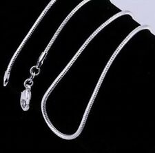 """925 Silver Necklace Snake Chain 24"""" Brand New Free P&P"""