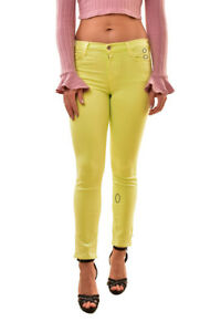 J Brand Womens Cropped 83121563 Elastic Jeans Yellow Size 25