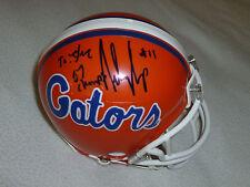 FOOTBALL FLORIDA GATORS RILEY COOPER #11 SIGNED MINI HELMET NCAA 07 CHAMPS AUTO