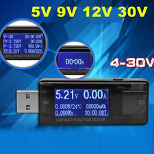 USB Safety Tester LCD Charger Voltage Current Meter Battery Power Detector ##