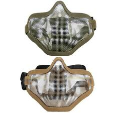 #QZO Airsoft Paintball Mesh Half Face Skull Protecting Mask Airsoft Mask
