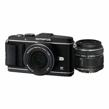 Near Mint! Olympus E-P3 12.3 MP with 14-42mm + 17mm Black - 1 year warranty