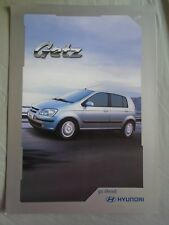 Hyundai Getz brochure Nov 2003 New Zealand market