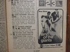 1968 TV Guide(LAND OF THE GIANTS/HERE COME THE BRIDES/MAYBERRY RFD/THE MOD SQUAD