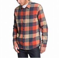 Quiksilver Mens Shirts Orange Size Small S Button Front Regular Fit $55 343