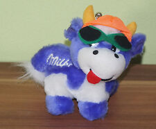 Milka Kuh Anhänger Plüschtier Stofftier mit Sonnenbrille und Kappe TOP! (H2)