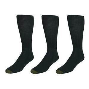 New Gold Toe Men's Extended Size Fluffies Dress Socks (3 Pair Pack)