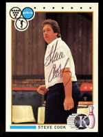 Steve Cook #36 signed autograph auto 1990 Kingpins PBA Bowling Trading Card
